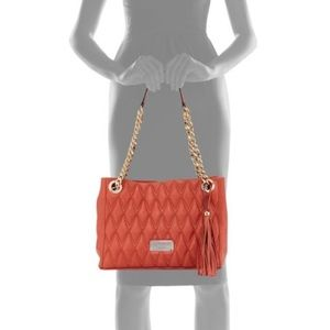 Valentino Red Leather Quilted tote
